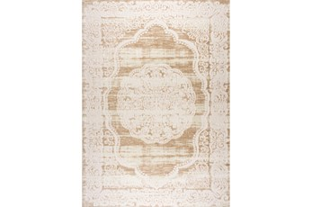 94X126 Rug-Center Medallion Beige/Ivory