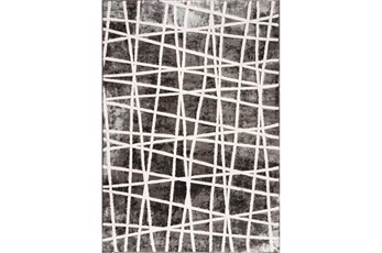 94X126 Rug-Intersecting Lines Charcoal/Ivory
