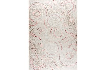 63X90 Rug-Dot Swirl Pink/Cream