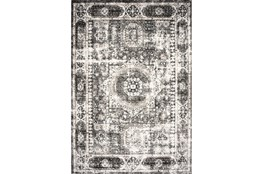 94X126 Rug-Traditional Pattern Grey/Black