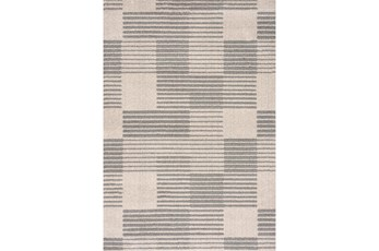 94X126 Rug-Square Lines Grey