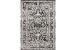 94X126 Rug-Traditional Leaves Grey/Black