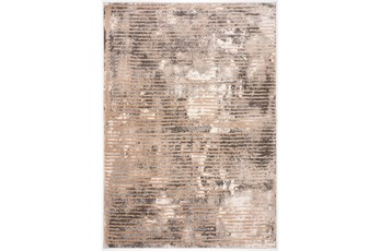 94X126 Rug-Tribal Line Brown