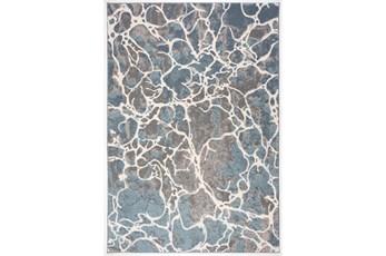"7'8""x10'5"" Rug-French Crackle Blue/Grey"