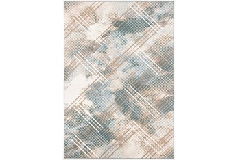 """5'3""""x7'5"""" Rug-Overlapping Paid Seaglass/Beige"""