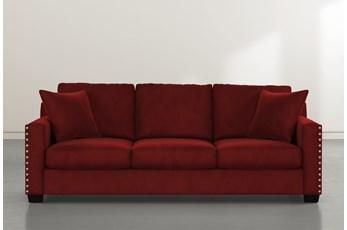 Madsen Burgundy Velvet Sofa
