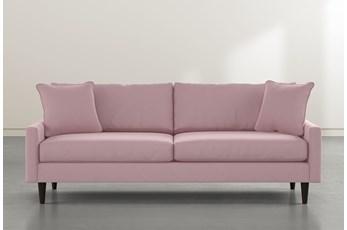 """Vivian 88"""" Pink Velvet Sofa"""