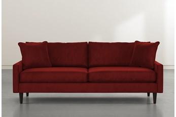 """Vivian 88"""" Burgundy Velvet Sofa"""