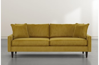 """Vivian 88"""" Gold Velvet Sofa"""