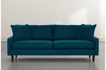 """Vivian 88"""" Teal Blue Velvet Sofa"""