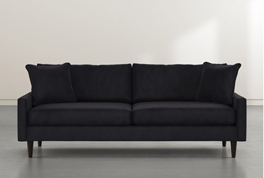 "Vivian 88"" Dark Grey Velvet Sofa"