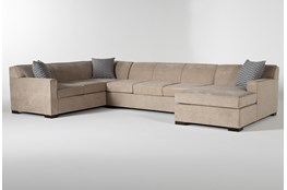 "Nathan Foam 3 Piece 147"" Sectional With Right Arm Facing Chaise"