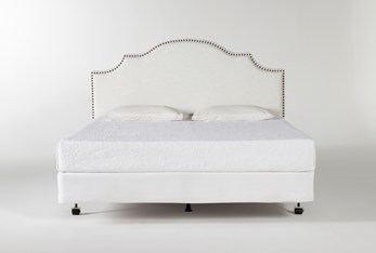 Brielle California King Upholstered Headboard With Metal Bed Frame