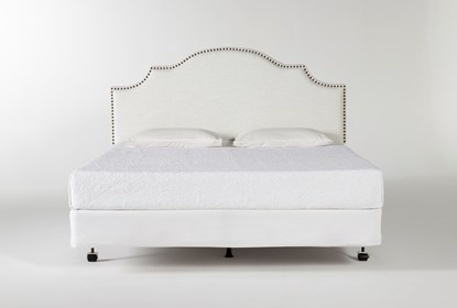 Brielle California King Upholstered Headboard With Metal Bed Frame Living Spaces