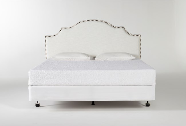 Brielle Eastern King Upholstered Headboard With Metal Bed Frame - 360