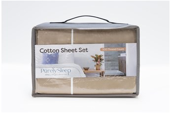 Sheet Set-Revive Premier 500Tc Cotton Beige Full