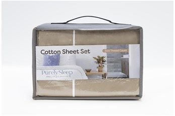 Sheet Set-Revive Premier 500Tc Cotton Beige Queen
