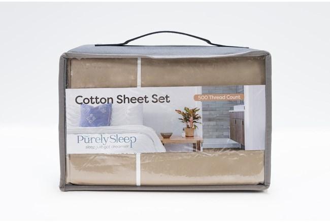 Sheet Set-Revive Premier 500Tc Cotton Beige California King - 360