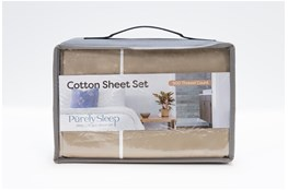 Sheet Set-Revive Premier 500Tc Cotton Beige Eastern King