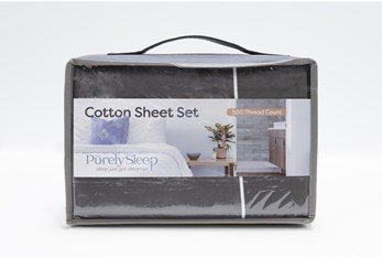 Sheet Set-Revive Premier 500Tc Cotton Dark Grey Queen