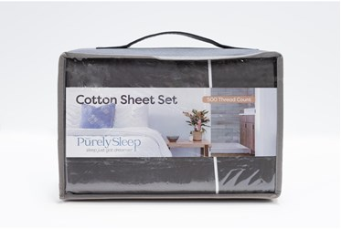 Sheet Set-Revive Premier 500Tc Cotton Dark Grey California King