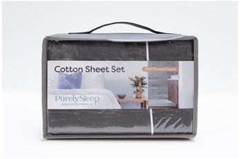 Sheet Set-Revive Premier 500Tc Cotton Dark Grey Eastern King