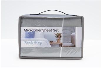 Sheet Set-Revive Essentials Microfiber Grey Full