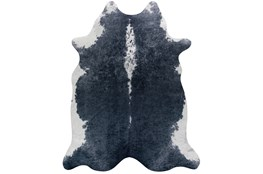 93X115 Rug-Faux Hide Graphite