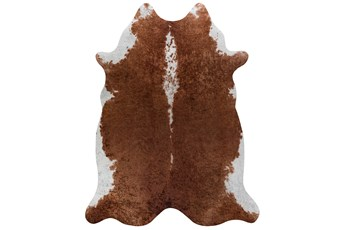 93X115 Rug-Faux Hide Saddle Brown
