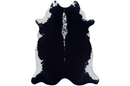 42X52 Rug-Faux Hide Black
