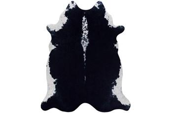 42X52 Rug-Faux Hide Black