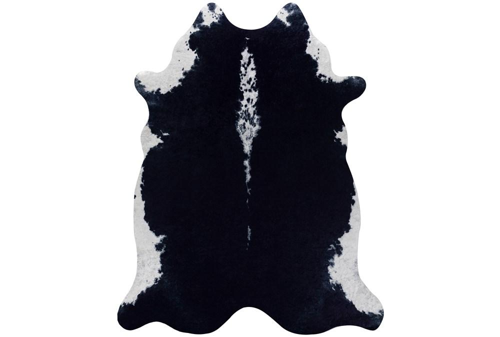 66X82 Rug-Faux Hide Black