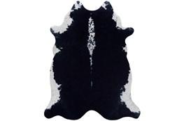 93X115 Rug-Faux Hide Black