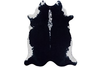 93X115 Rug-Faux Hide Black