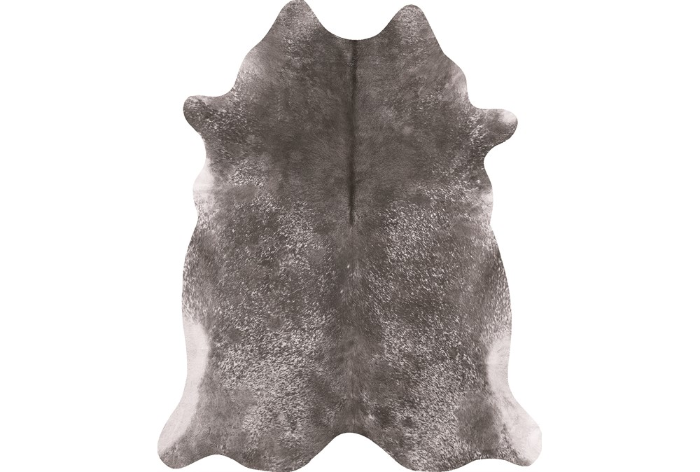 42X52 Rug-Faux Hide Galvinized Pewter
