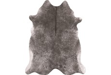 "3'5""4'3"" Rug-Faux Hide Galvinized Pewter"