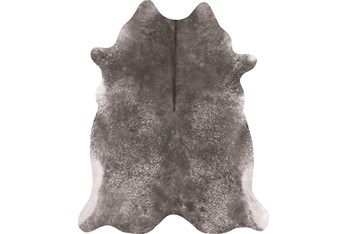 """3'5""""4'3"""" Rug-Faux Hide Galvinized Pewter"""