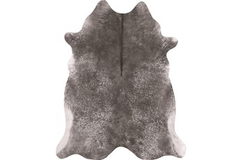 66X82 Rug-Faux Hide Galvinized Pewter