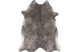 93X115 Rug-Faux Hide Galvinized Pewter