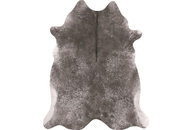 93X115 Rug-Faux Hide Galvinized Pewter - 360