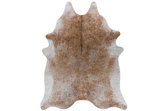 93X115 Rug-Faux Hide Maple Brown