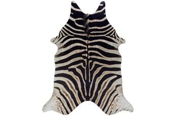 93X115 Rug-Faux Hide Zebra