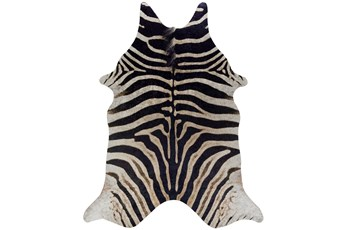 106X132 Rug-Faux Hide Zebra