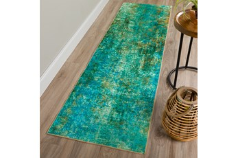 27X90 Rug-Borealis Lustre Meadow Green