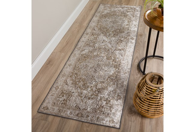 27X90  Rug-Traditional Lustre Sheen Brass - 360