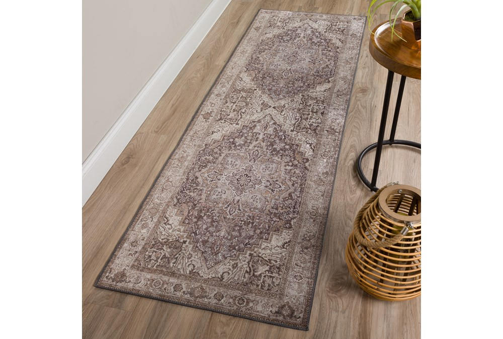 """2'3""""x7'5"""" Rug-Traditional Lustre Sheen Taupe"""