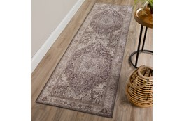 27X90 Rug-Traditional Lustre Sheen Taupe