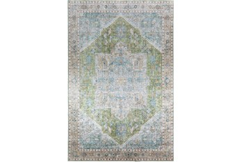 """1'7""""x2'5"""" Rug-Traditional Lustre Sheen Meadow"""