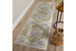 """2'3""""x7'5"""" Rug-Traditional Lustre Sheen Meadow"""