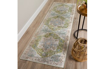 27X90 Rug-Traditional Lustre Sheen Meadow
